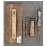 Wood float and hand saw lot