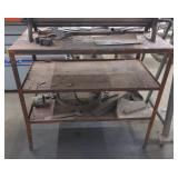 Metal Work Table w/ Contents *does not include