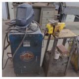 Miller Arc Welder, Vise, and Helmet