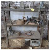 """Shelving Unit with Contents measuring 47"""" x 20"""" x"""