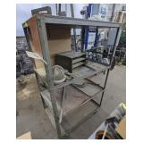 Metal Rolling Cart with Contents