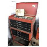 Vtg Tool Box, Contents Included. Brand Unknown.