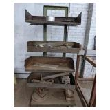 Metal Rolling Shelves with Contents measuing