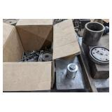 Box of Nuts and Bolts and Metal Pieces