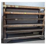 "Wooden Shelving measuring 92"" x 23"" x 79"""