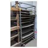 """Rolling Shel Cart measuring 40"""" x 26"""" x 74"""""""