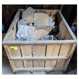 Wood Crate w/ Cast Aluminum and Steel Scrap