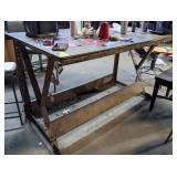 "Workshop Table *no Contents* measuring 60"" x 36"