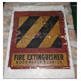 Vintage Wooden Fire Extinguisher Sign *buyer