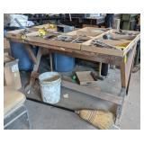 "Metal Workshop Table *no Contents* measuring 60"""