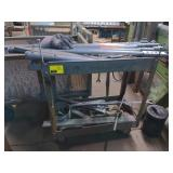 Metal Utility Cart on Casters *contents not