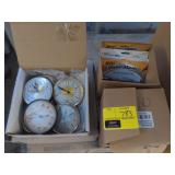 Lot of Various office Supplies and Clock Inserts