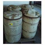 Lot of Four Plastic Barrels