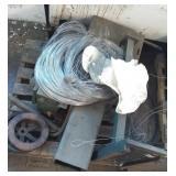Pallet w/Old Bush Machine and Wire