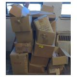 Pallet of Various lamp parts