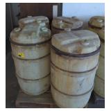 Lot of Four 55gal Plastic Barrels