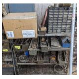 Metal Shelving with Contents