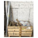 Crate of Various Wood and Plastic Pieces and One