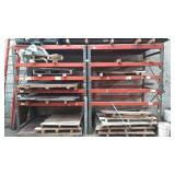 Two Sections of Pallet Racking.  Includes 4