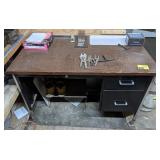 """Office Desk with Contents measuring  45 1/2"""" x"""