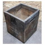 """Wooden Crate measuring 11"""" x 11"""" x 12 1/2"""""""