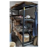 """Shelving Unit with Contents measuring 77"""" x 24"""" x"""