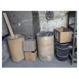 Barrels w/ Polishing Wheels, Mix Wood & Metal