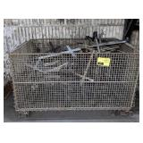 """Metal Wire Basket, 32""""x21""""19"""". Contents not"""