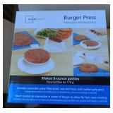 Box of 3 NOS Hamburger Presses.  Bidding on one
