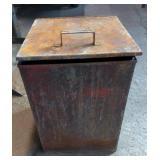 """Metal Storage Box, 25""""T x 16.5""""W x 16.5""""D"""