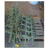 Pallet of Hanging Parts Drying Racks