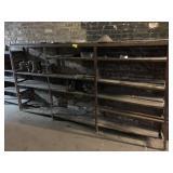 Metal Shelving Unit, measures 9.5ft x 14in x 60in