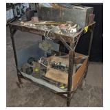 Metal Shop Cart w/ Various Fastener Contents