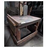 Wood Shop Cart w/ Metal Top
