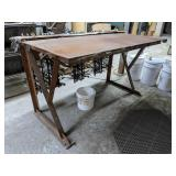 Metal Shop Table. 60x37x35