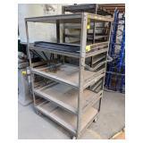 Industrial Cart w/ Wire Shelves. 42x24x69