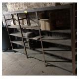 Metal Shelving Unit, measures 7ft x 1ft x 54in