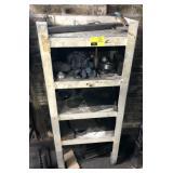 Metal Shelf, measures 20.5x14x49in