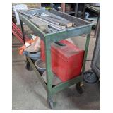 Metal Utility Cart on Casters