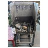 Enclosed Metal Basin on Casters