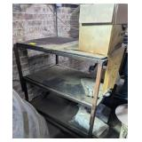 Utility Cart w/ Wood Shelves on Casters
