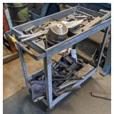 Metal Cart on Casters
