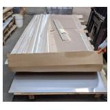 2 Sheets of Fiberglass Paneling, 5 Sheets of