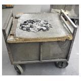 Industrial Metal Cart 39x31x35
