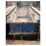 "Steel Tank 48""W x 120""L x 42"" D   w/rubber liner"