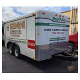 16ft Enclosed Dual Axle Trailer w/ Contents.