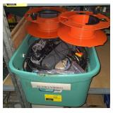 Lot w/ Cable Reels and Various A/V Cables
