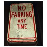 Lot of 3 No Parking Signs