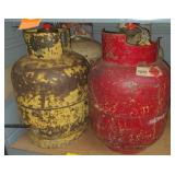 Lot of 4 Small Propane Tanks, most feel full