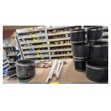 "Shelf Cont incl 6"" Clay Flexible Coupling, 6""-4"""